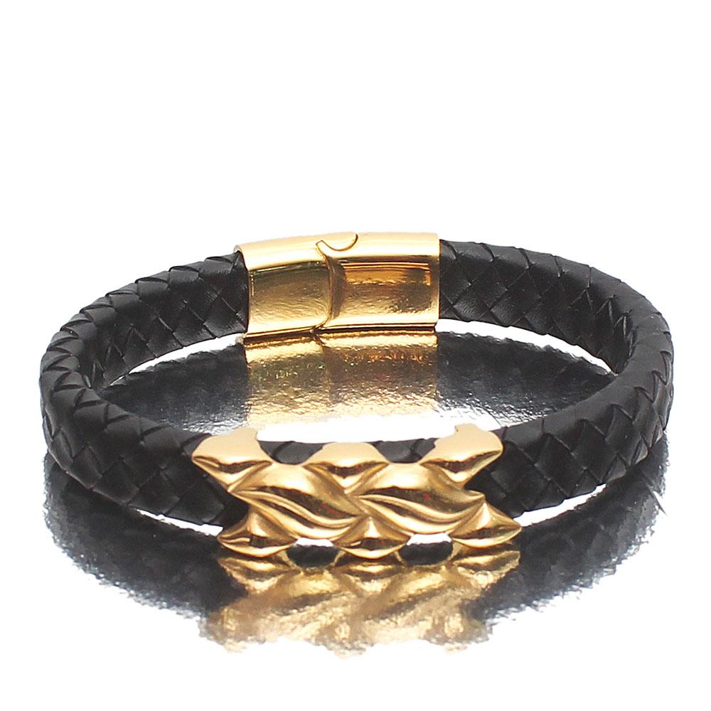X-Games Black Leather Bracelet