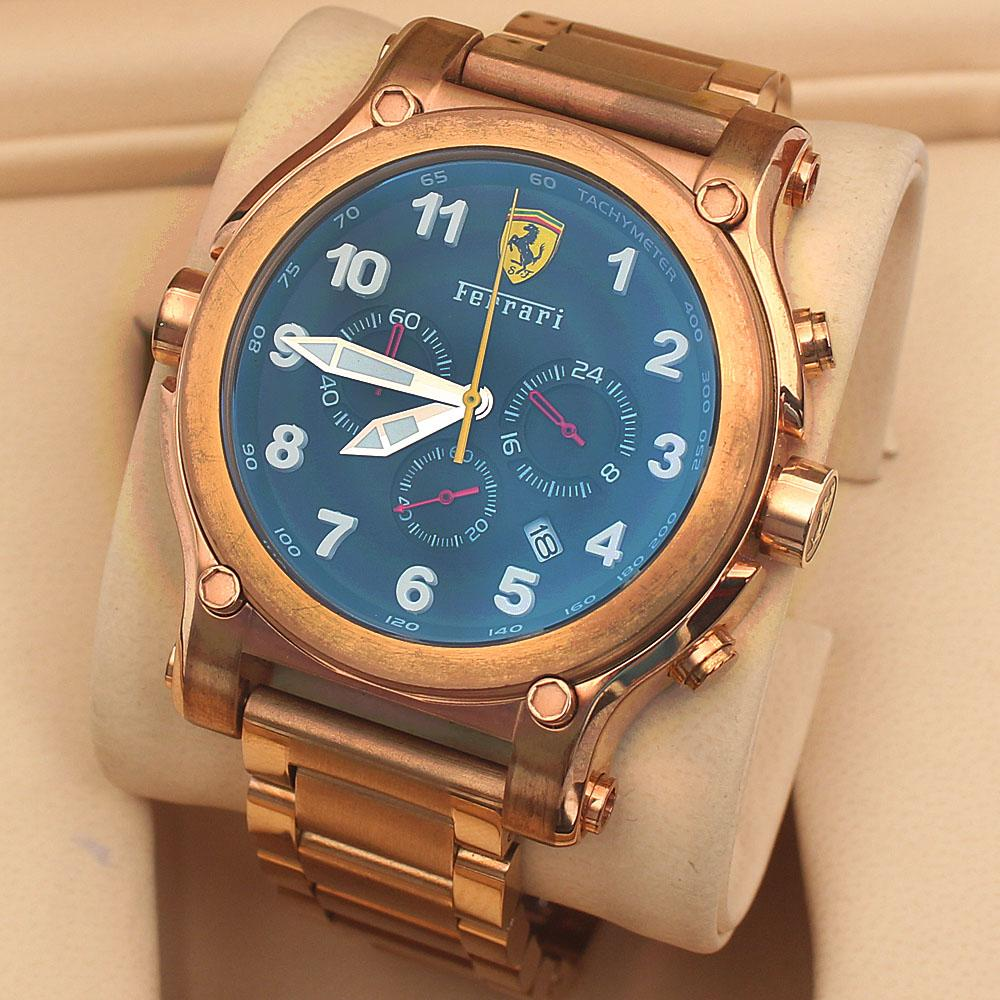 Rose Gold Men's Chronograph Watch-