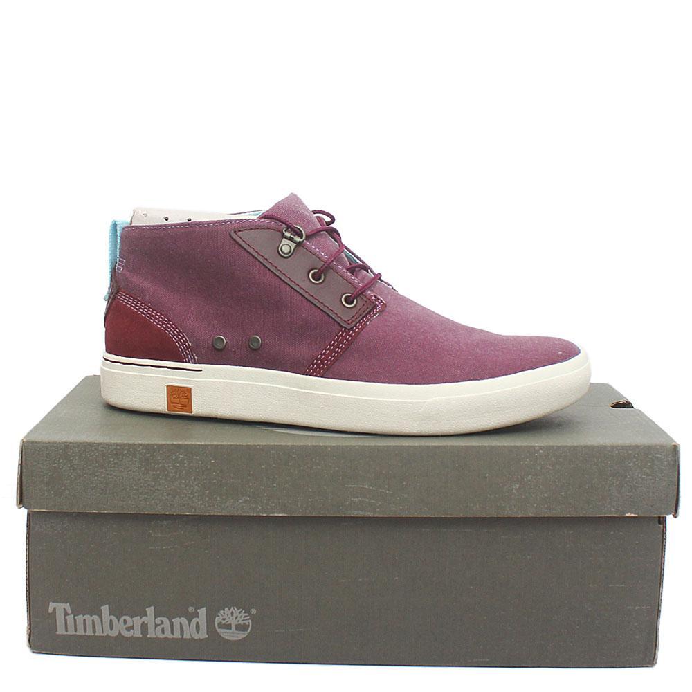 Timberland Sensorflex Purple Fabric Men Ankle Sneakers