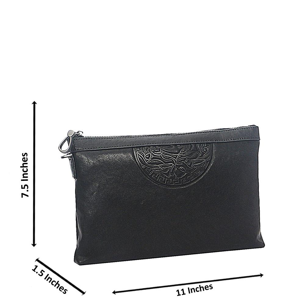 Black Smooth Montana Leather Man Flat Purse