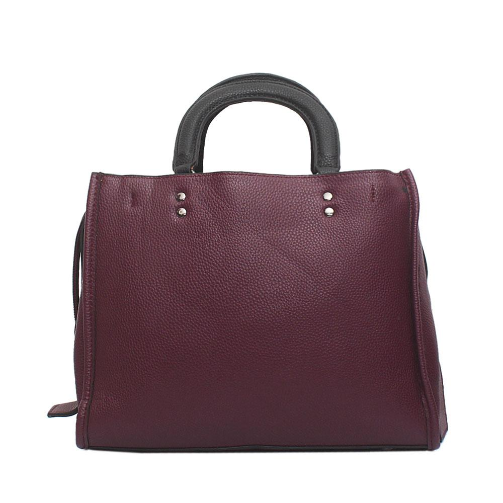 Supreme Purple Leather Bag
