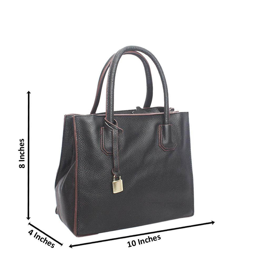 Black Ivy Small Sarno Leather Tote Handbag