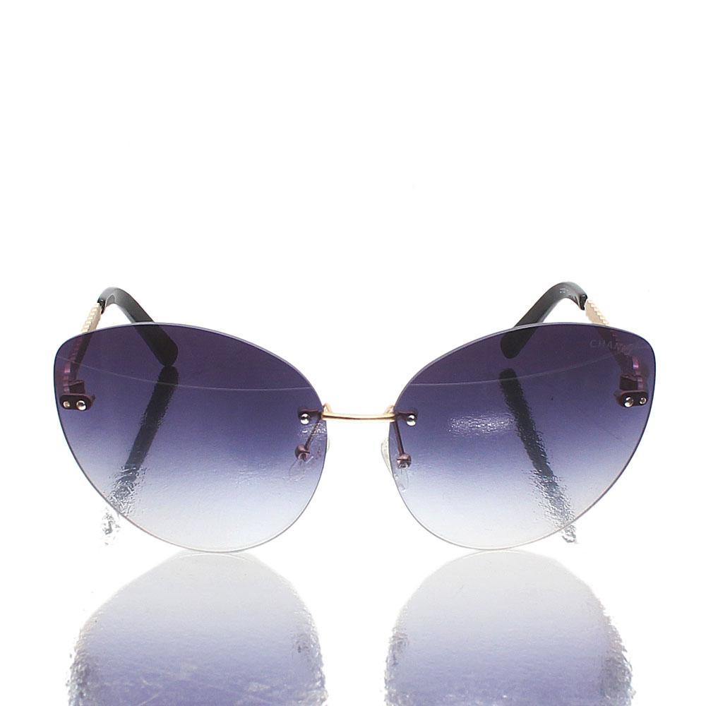 Black Designer Sunglasses wt Side Beads