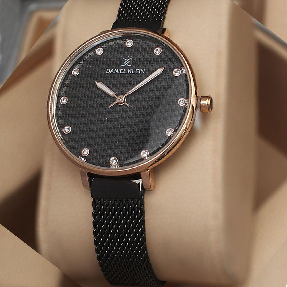 Daniel Klein Anthonia Black Mesh Watch