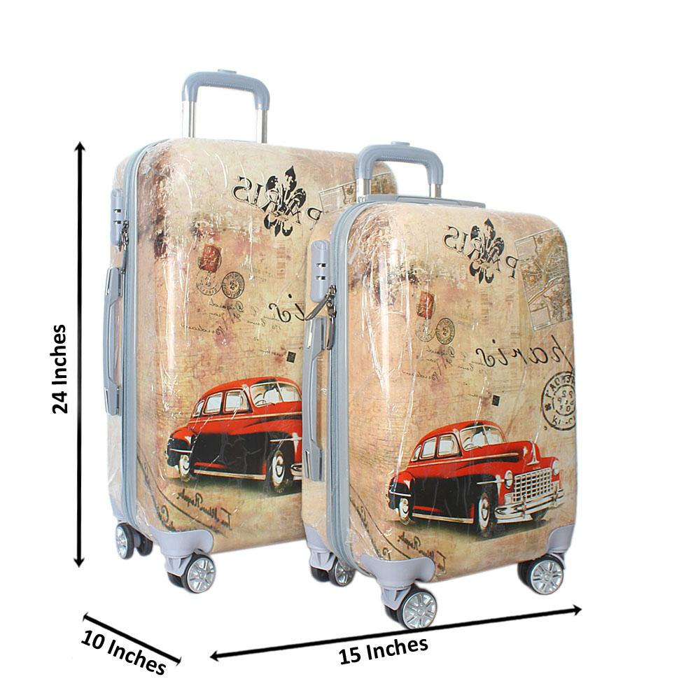 Paris 24 inch wt 20 inch 2-in-1 Hardshell Spinners Suitcase Set