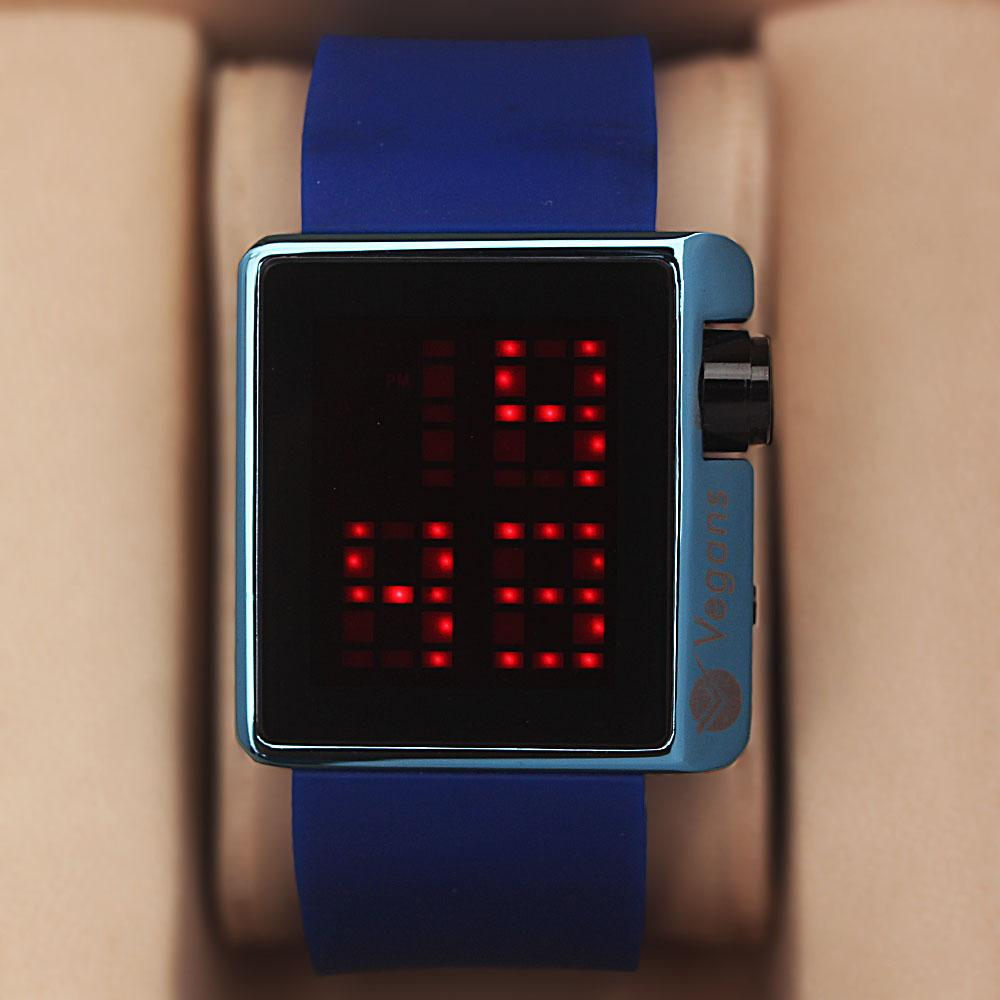 Vegans Royal Blue Rubber 3 ATM Water Resistant  Digital Watch
