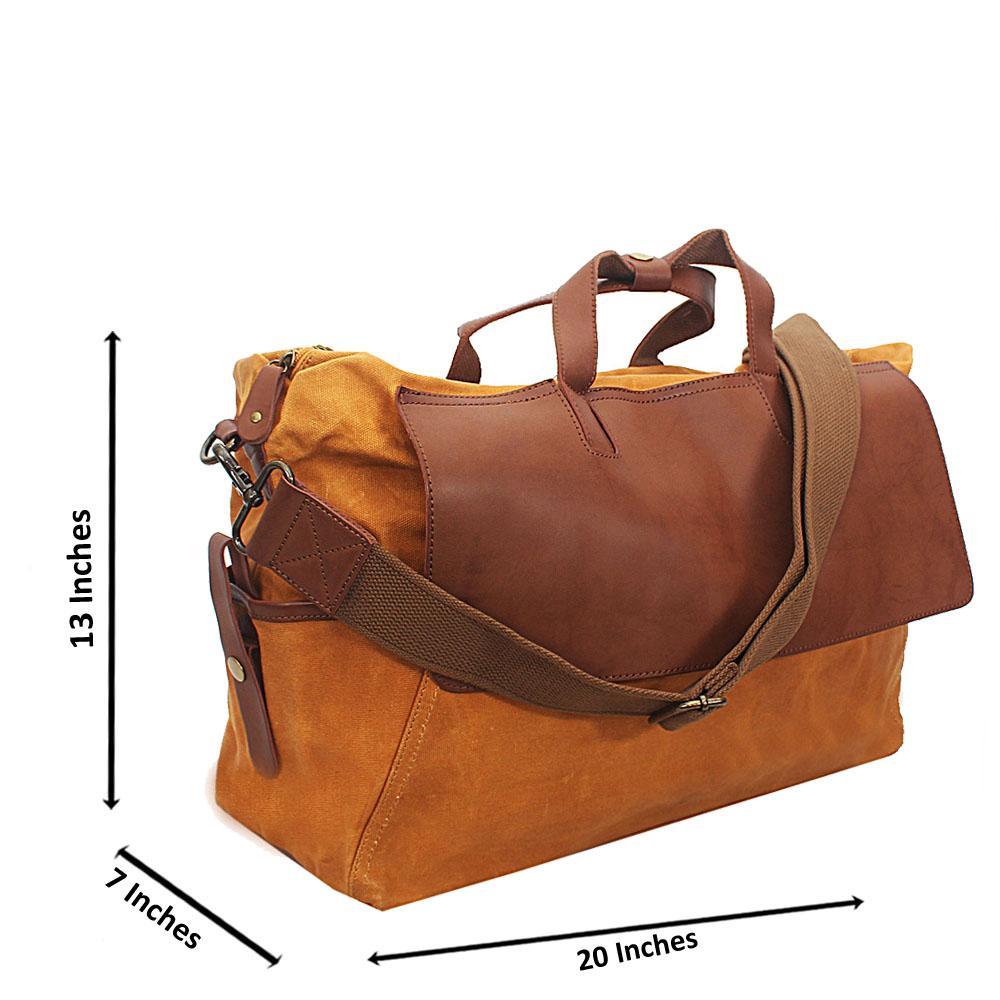 Camel Brown Water Proof Khaki Duffel Bag