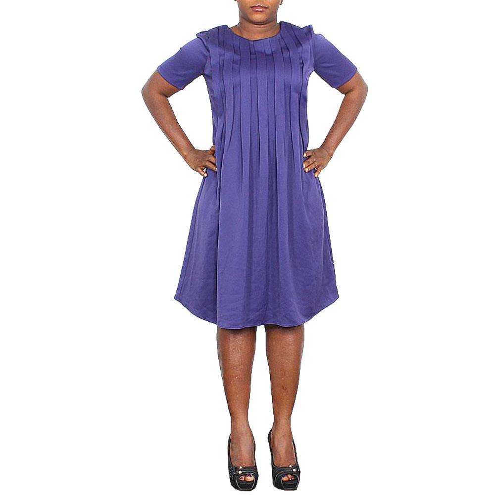 M&S Collection Twiggy Purple Cotton Dress