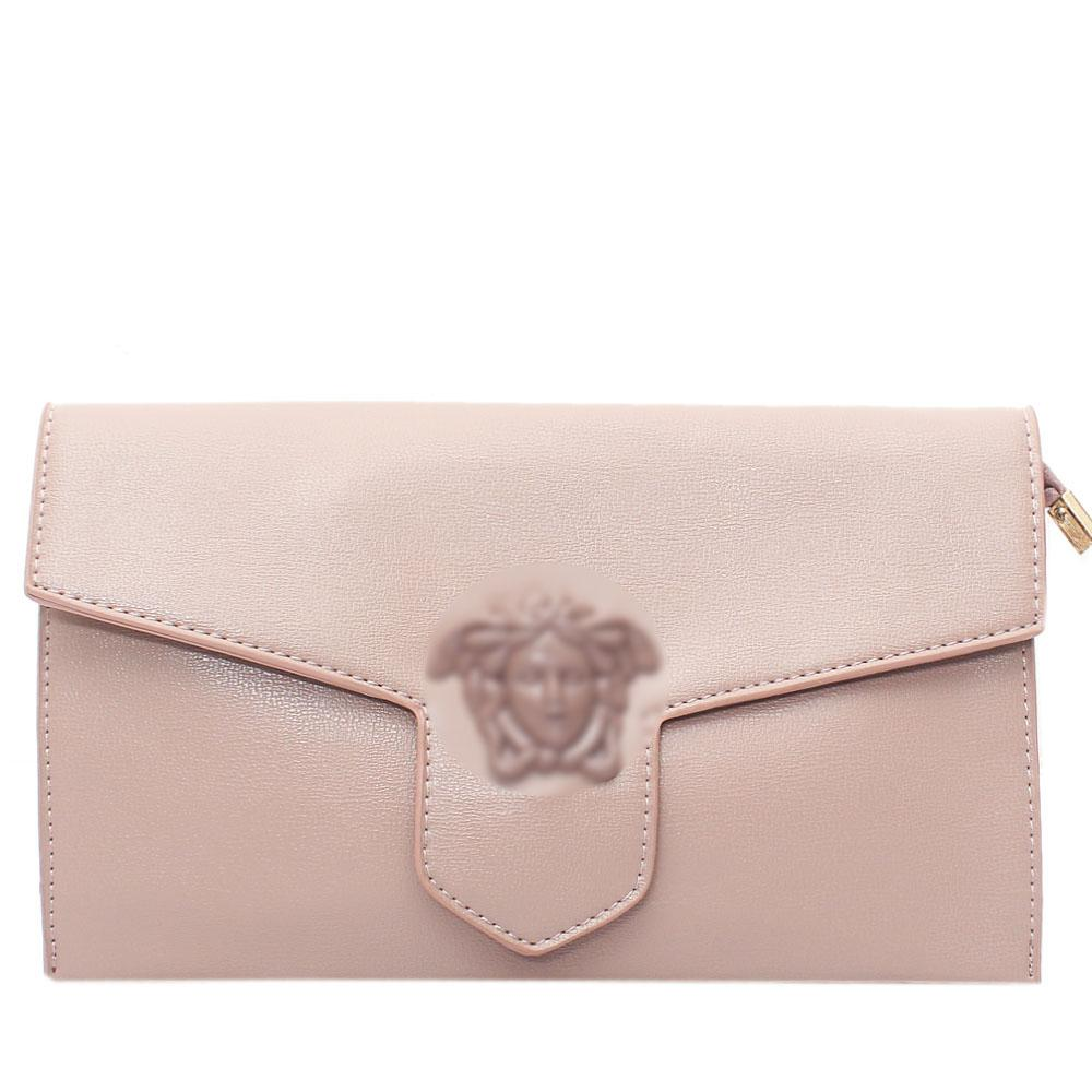 Pink Adoline Leather Flat Purse