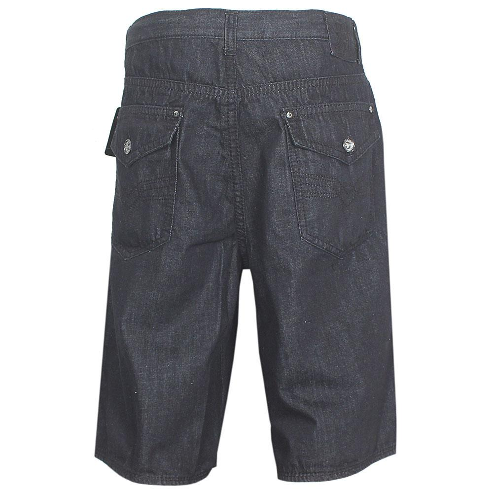 Request Jeans Black Men Cargo Short