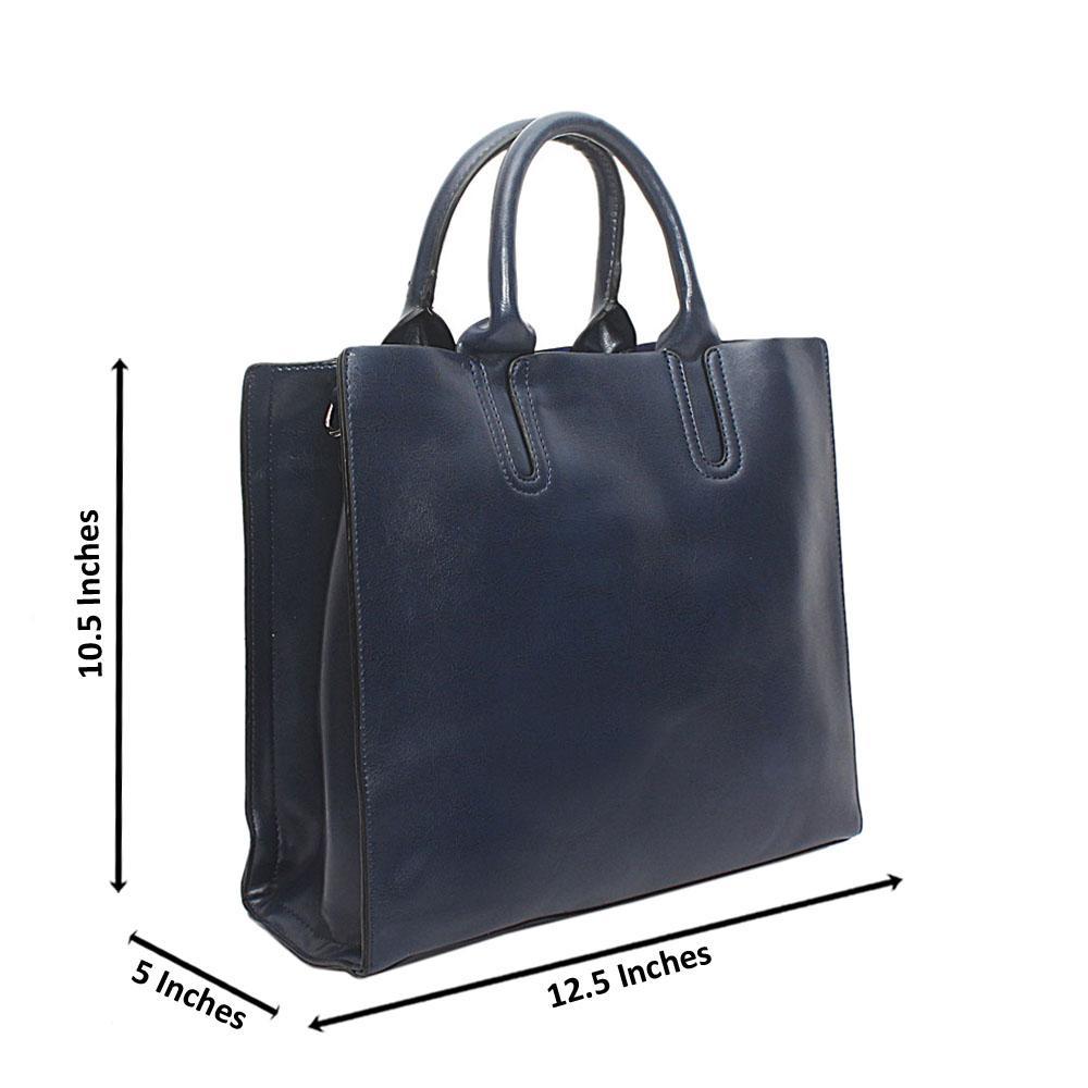 Blue Bahamas Leather Handbag