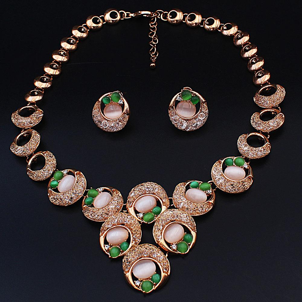 Diane Ross Sterling Gold Pearl Ice Stones Necklace and Earrings Set
