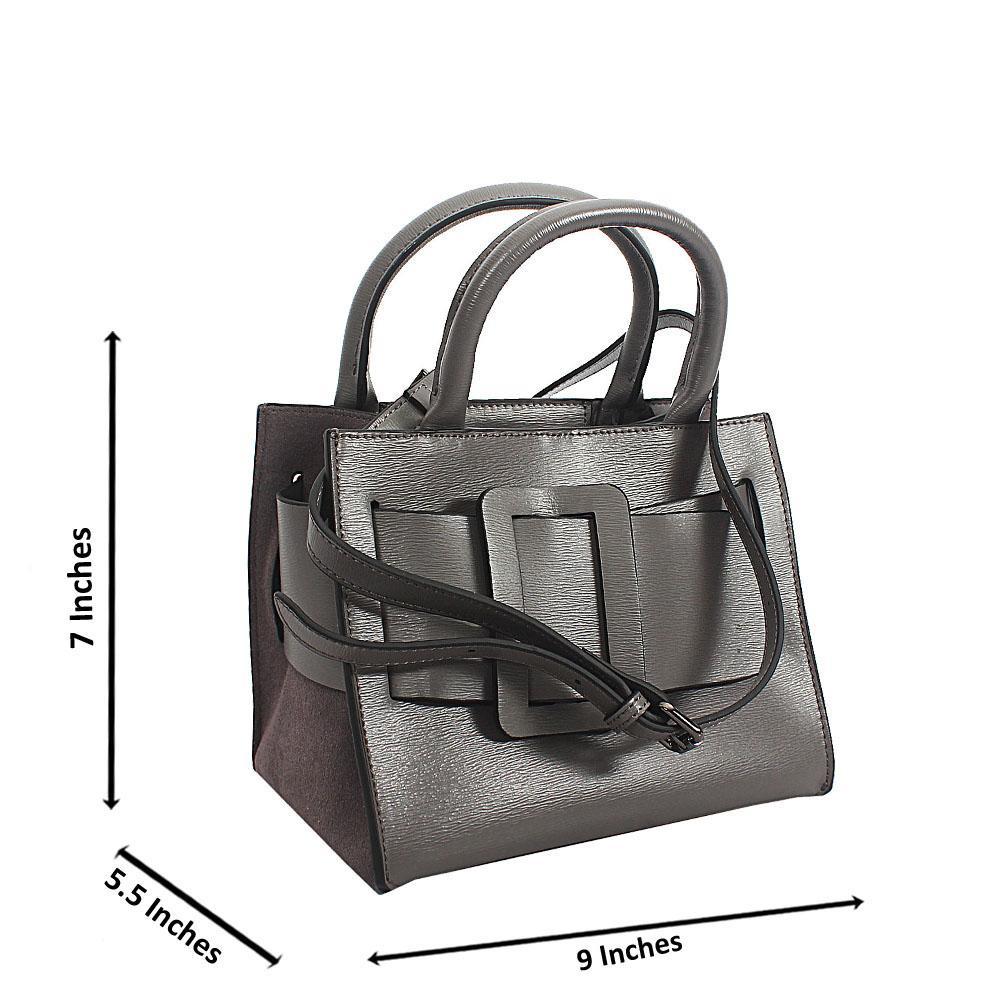 Gray Tuscany Leather Mini Handbag