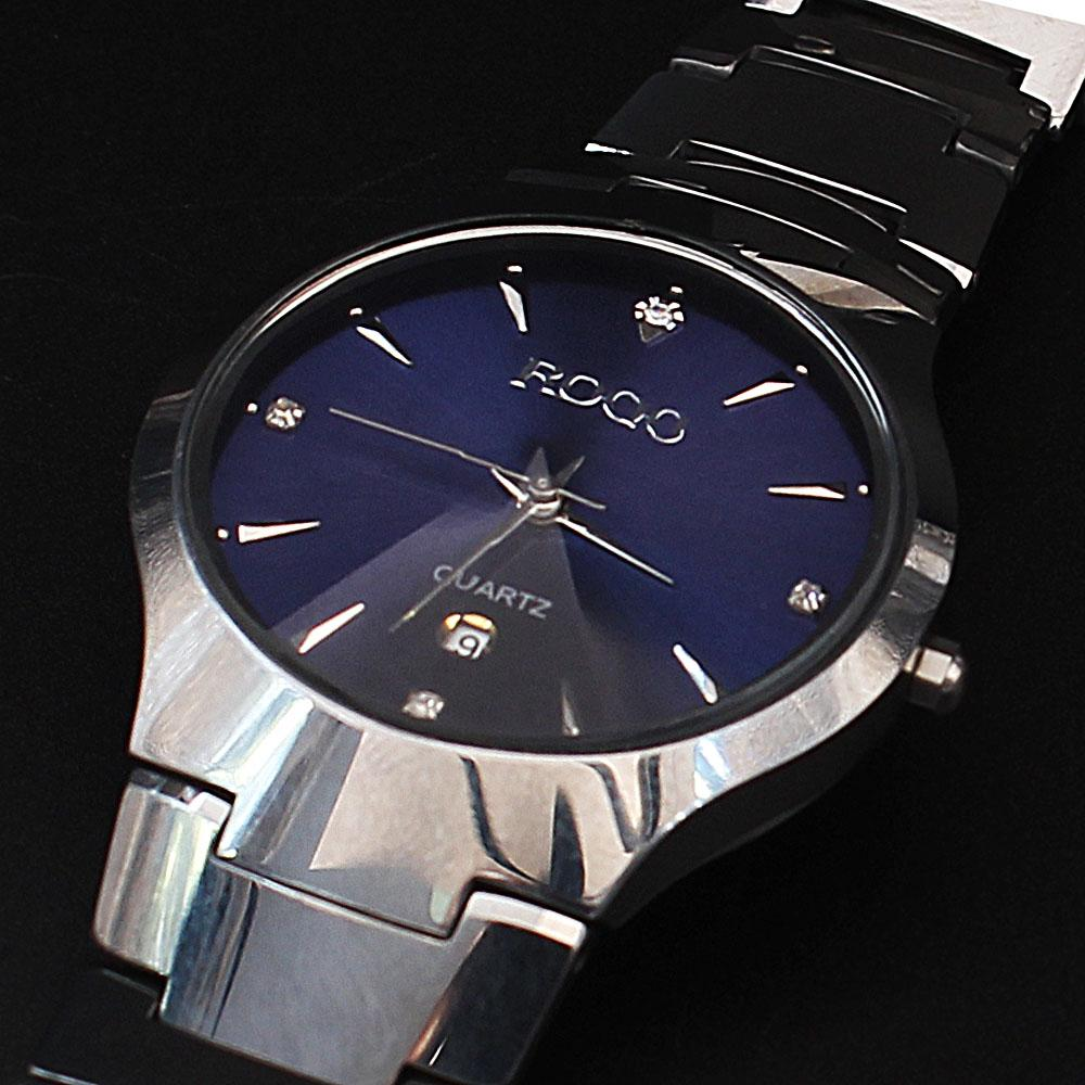 Shanghai Azari Blue Face Steel Ceramic Watch