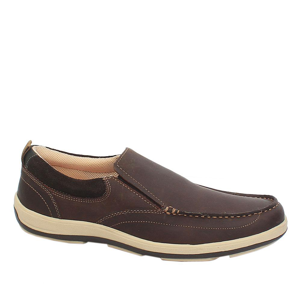 M&S Airflex Coffee Brown Leather Total Comfort Men Loafers