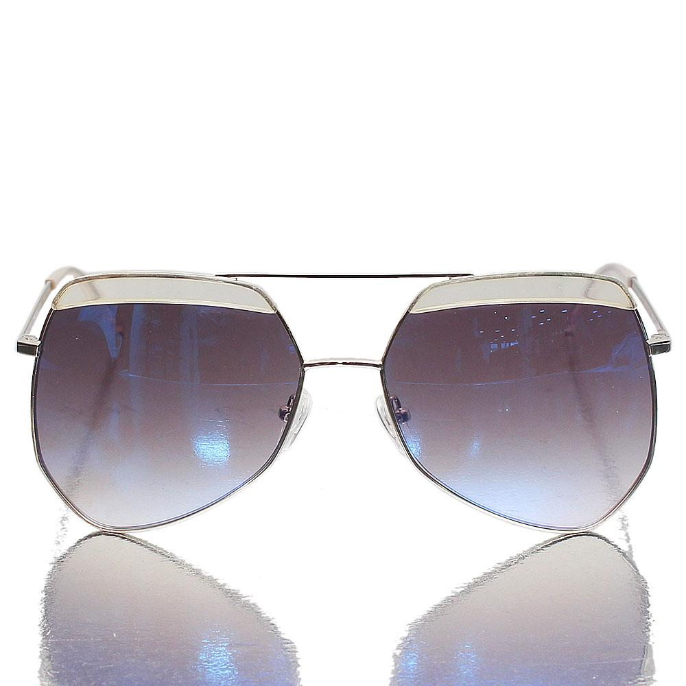 Silver Butterfly Blue Polarized Lens Sunglasses