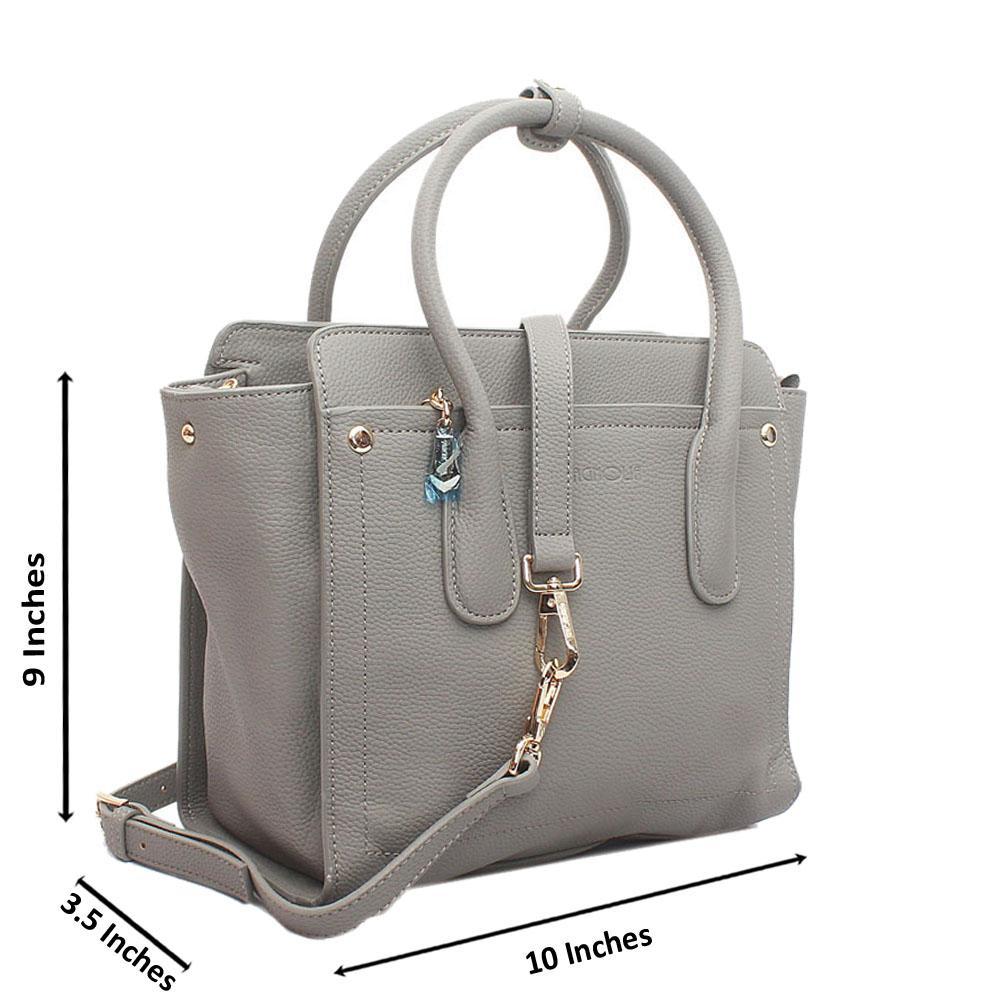 Gray Utopia Medium Leather Handbag