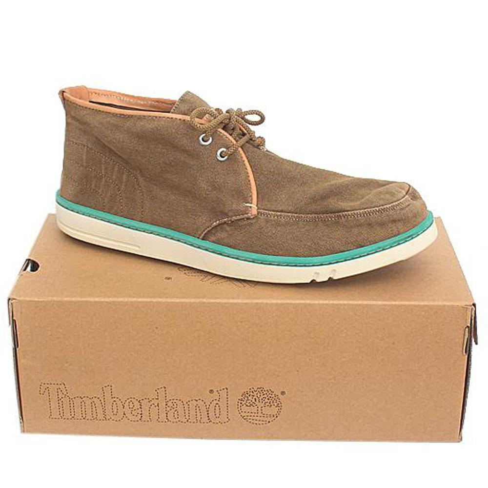 Timberland Brown Fabric Men Ankle Sneakers -Sz 46