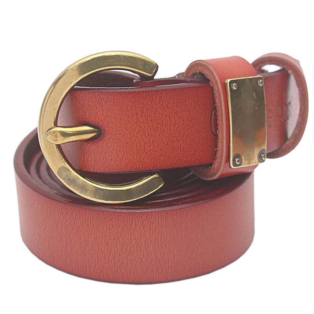 Brown Premium Leather Ladies Belt L 47 Inches