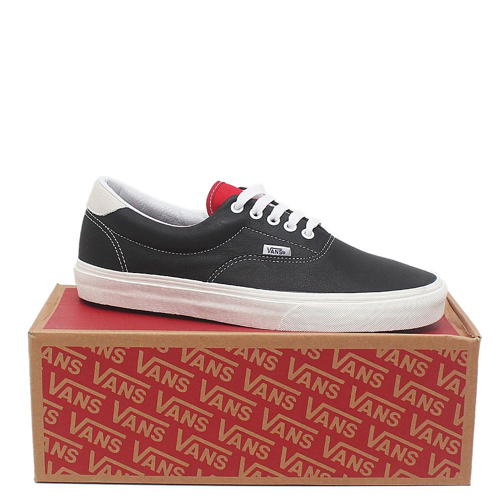Vans Off the wall Black Leather Men Sneakers