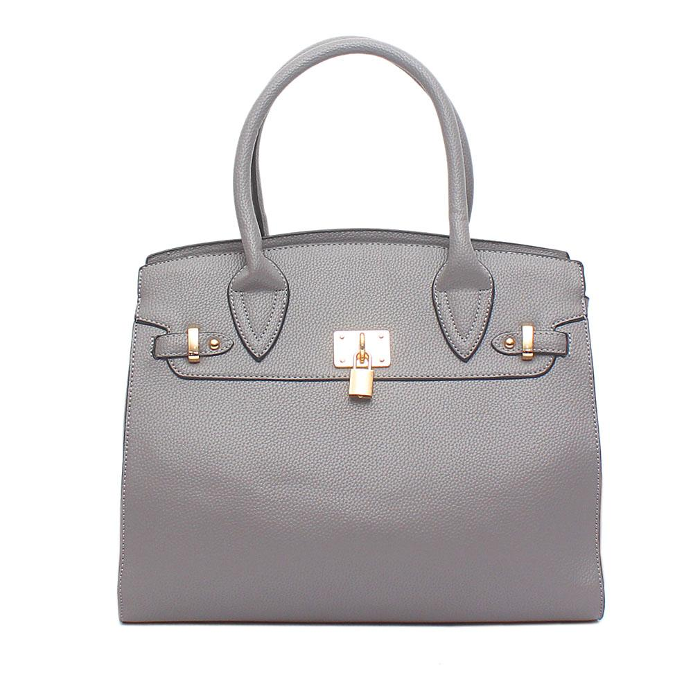 Avatar Grey Leather Tote Bag