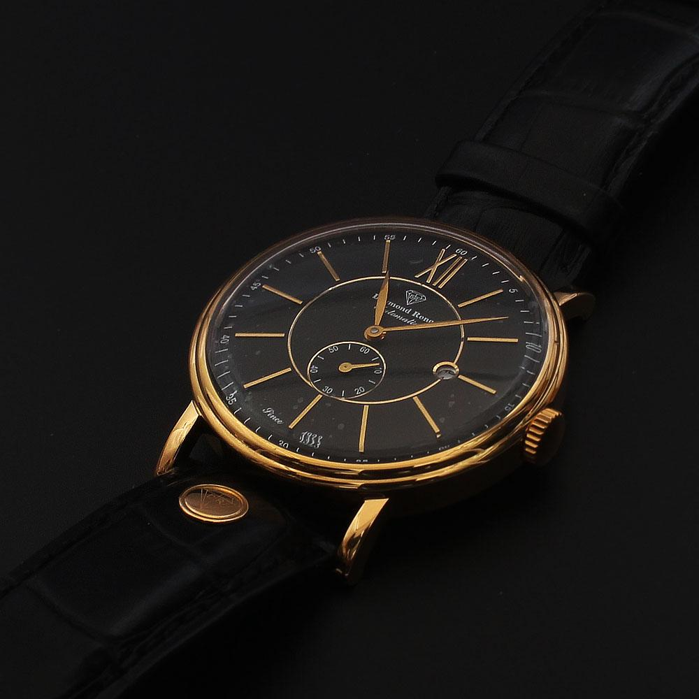 Daymond Rene 3 ATM Gold Black Leather  Automatic Watch