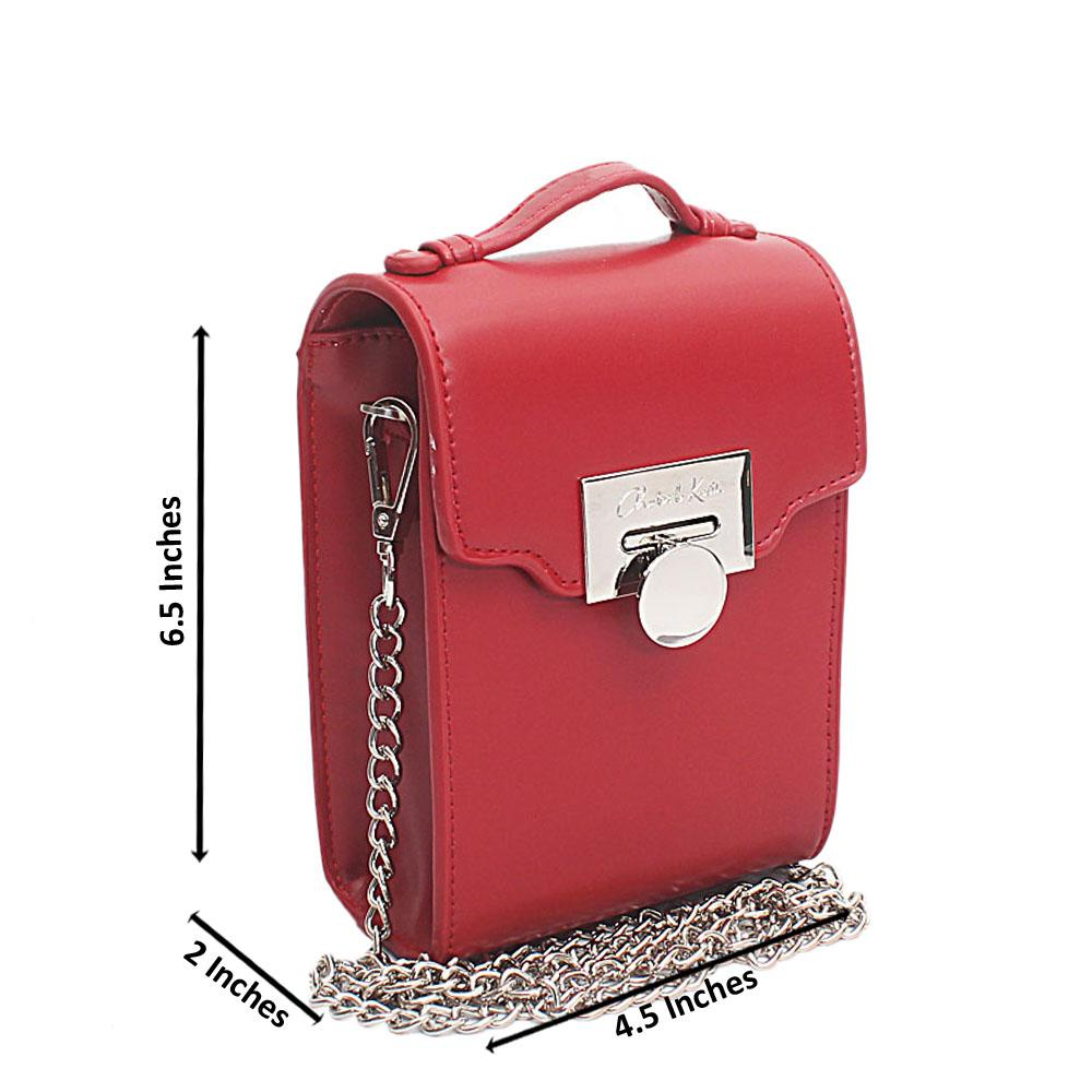 Red Leather Mini Bag
