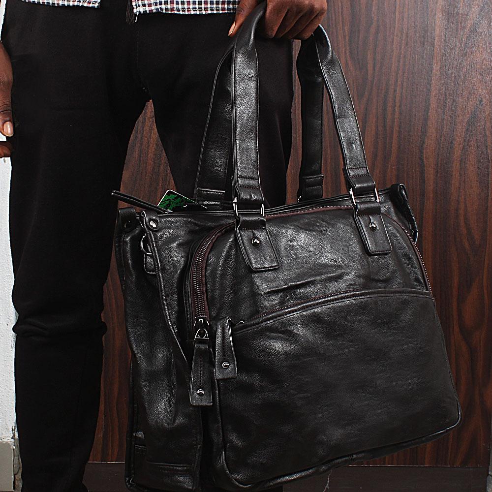 Casania Coffee Multi-Zip Overnight Travel Bag