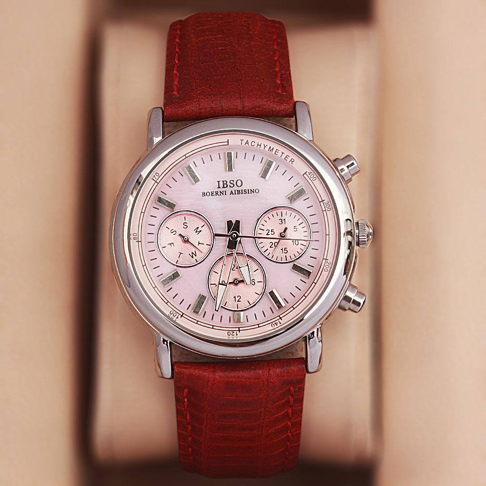 Avallon GP Red Leather Classic Ladies Watch