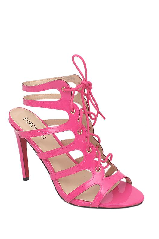 Forever 21 Pink Patent Leather Heel Sandal