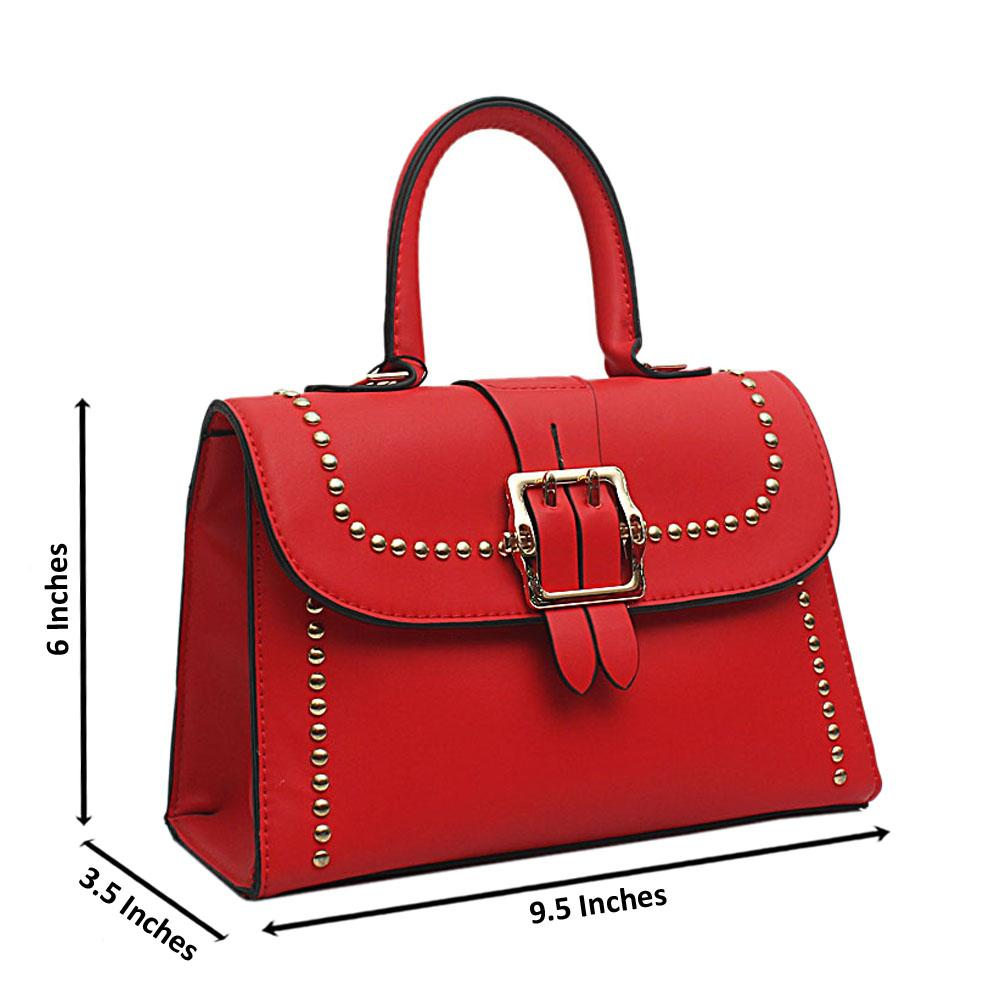 London-Style-Red-Leather-Small-Handle-Bag
