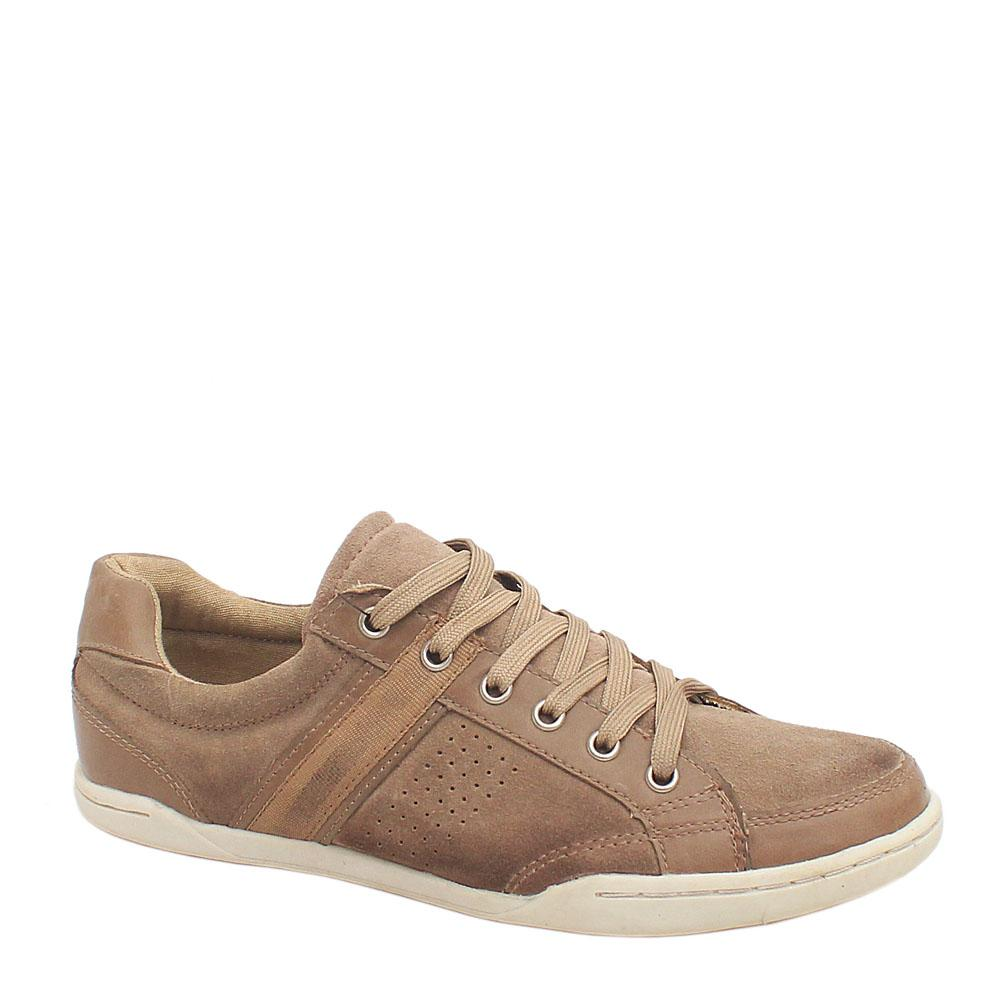 M & S Blue Harbour Brown Leather Men's Casual Sneakers Sz 40.5/UK 7