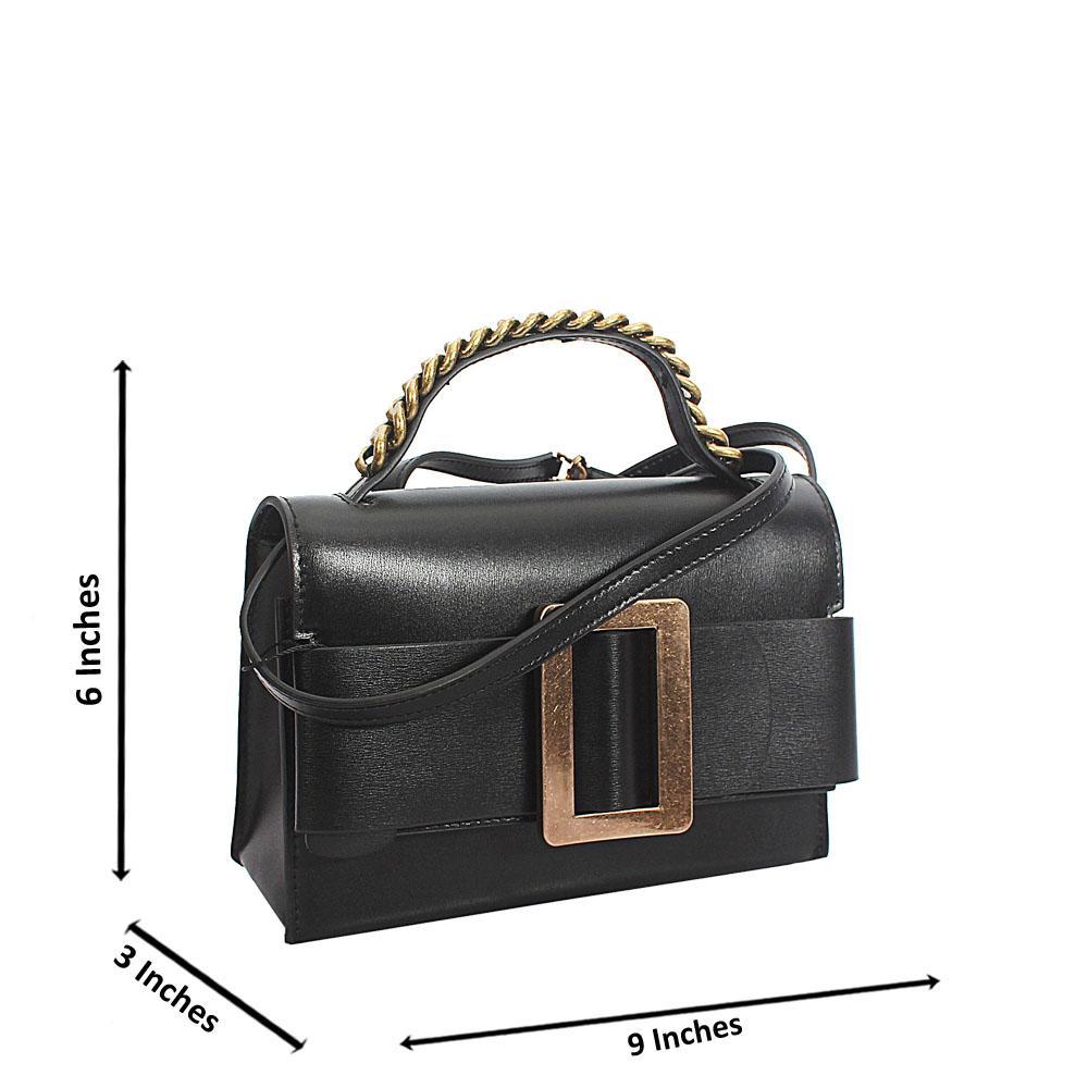 Black Deka Tuscany Leather Mini Handbag
