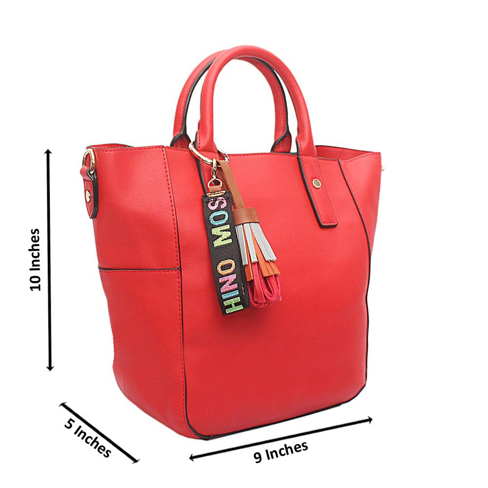 Red Omg Mediun Leather Handbag