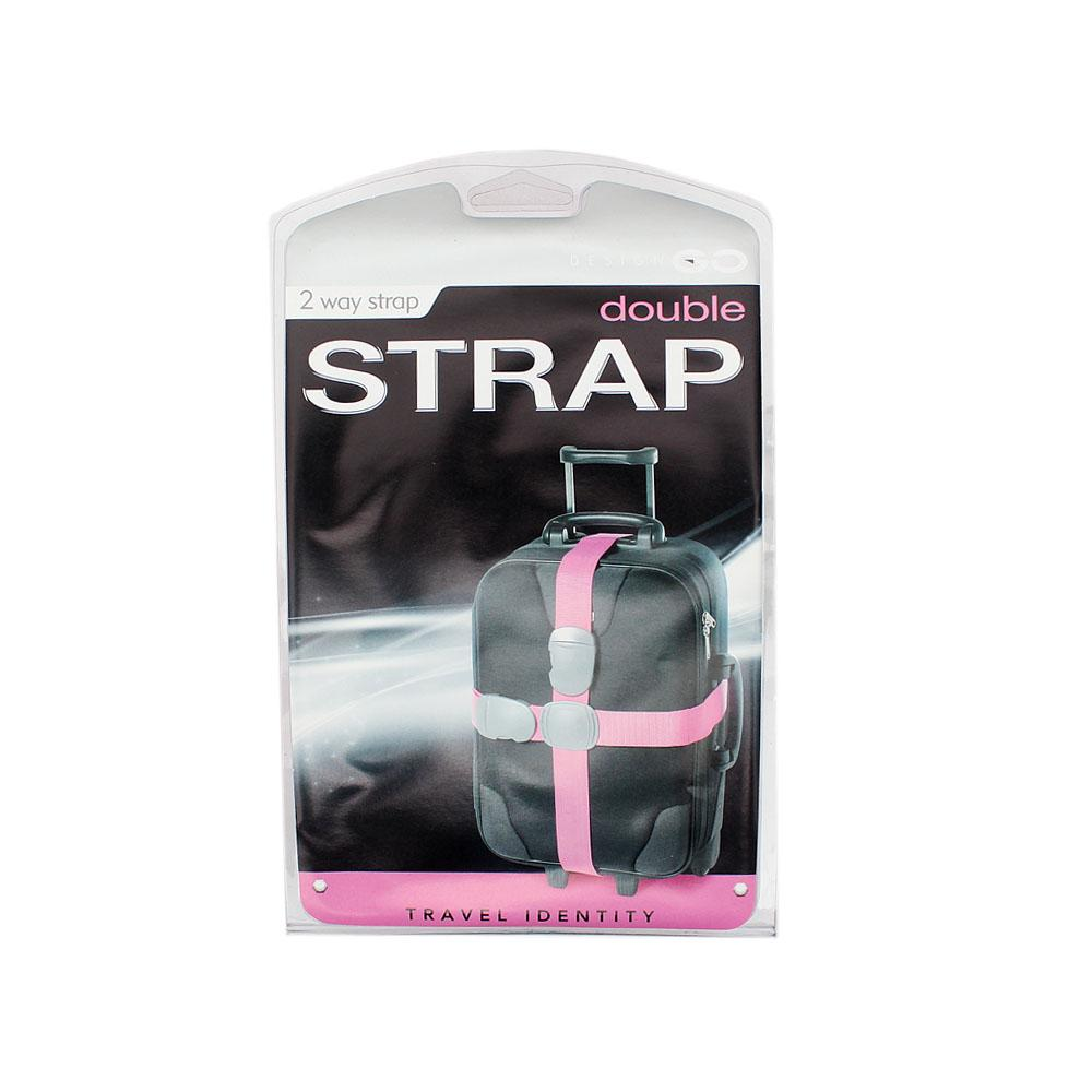 Two Way Extra Security Pink Travel Strap