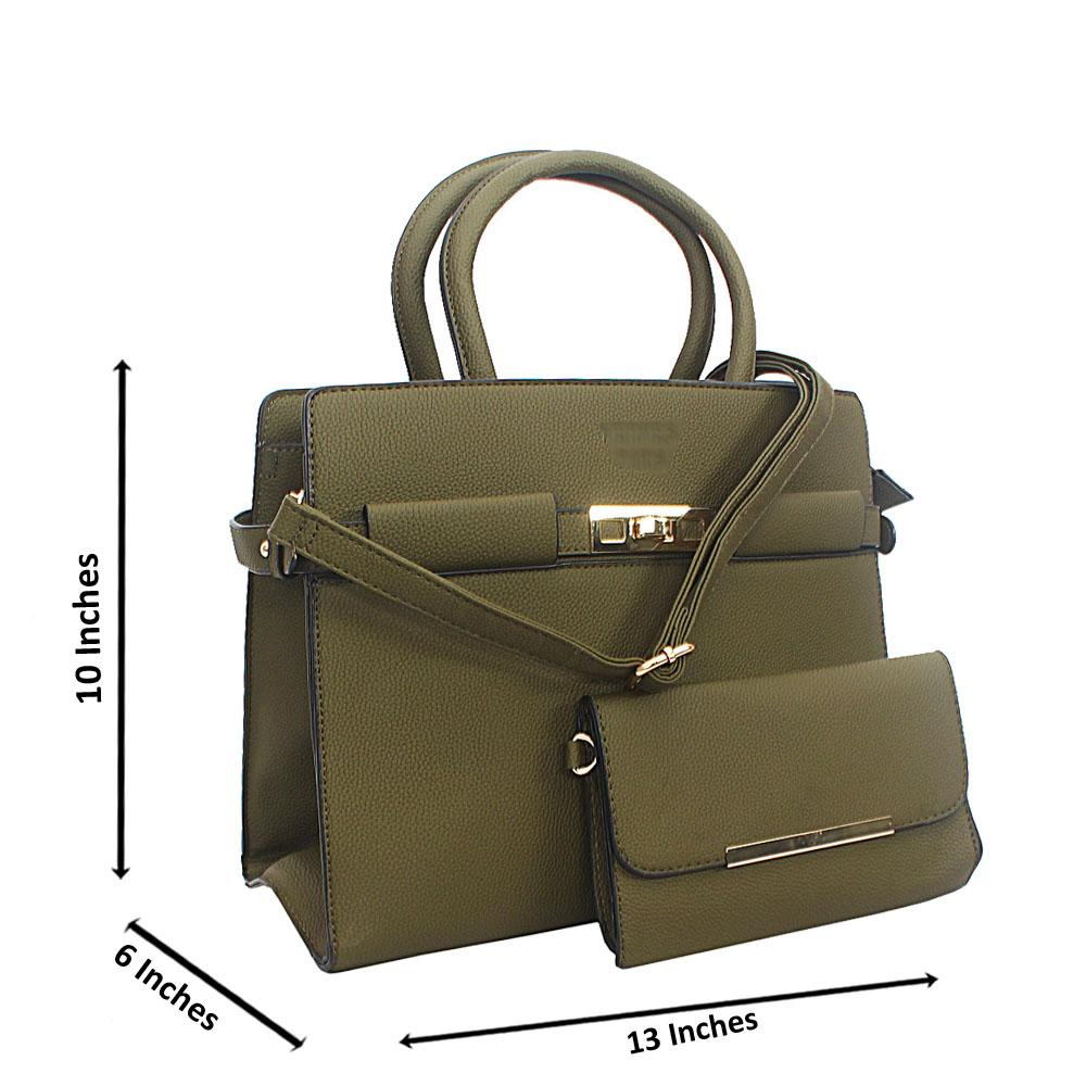 Deep Green Tuscany Leather Tote Handbag