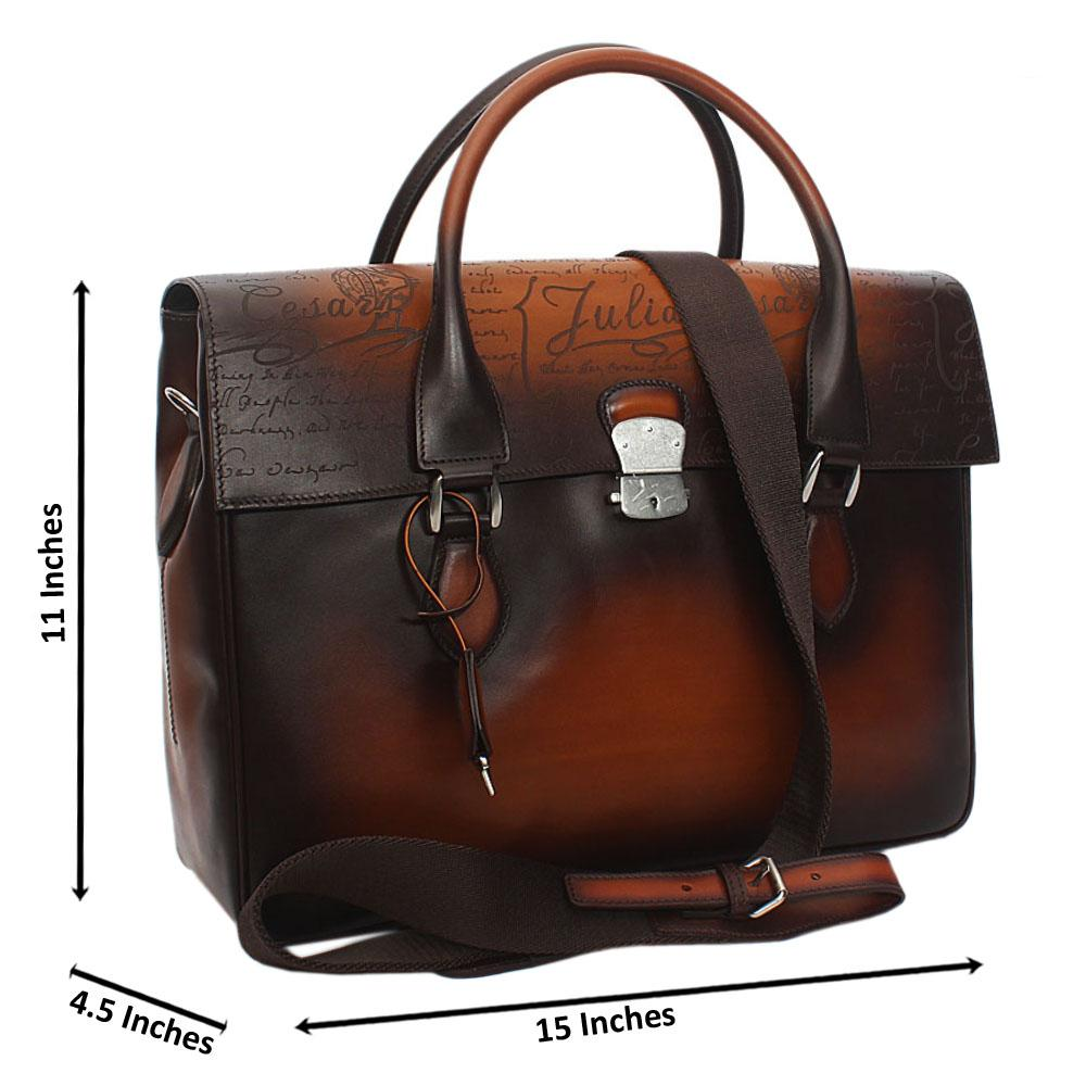 Julia Cesaer Brown Cow-Leather Man-Bag