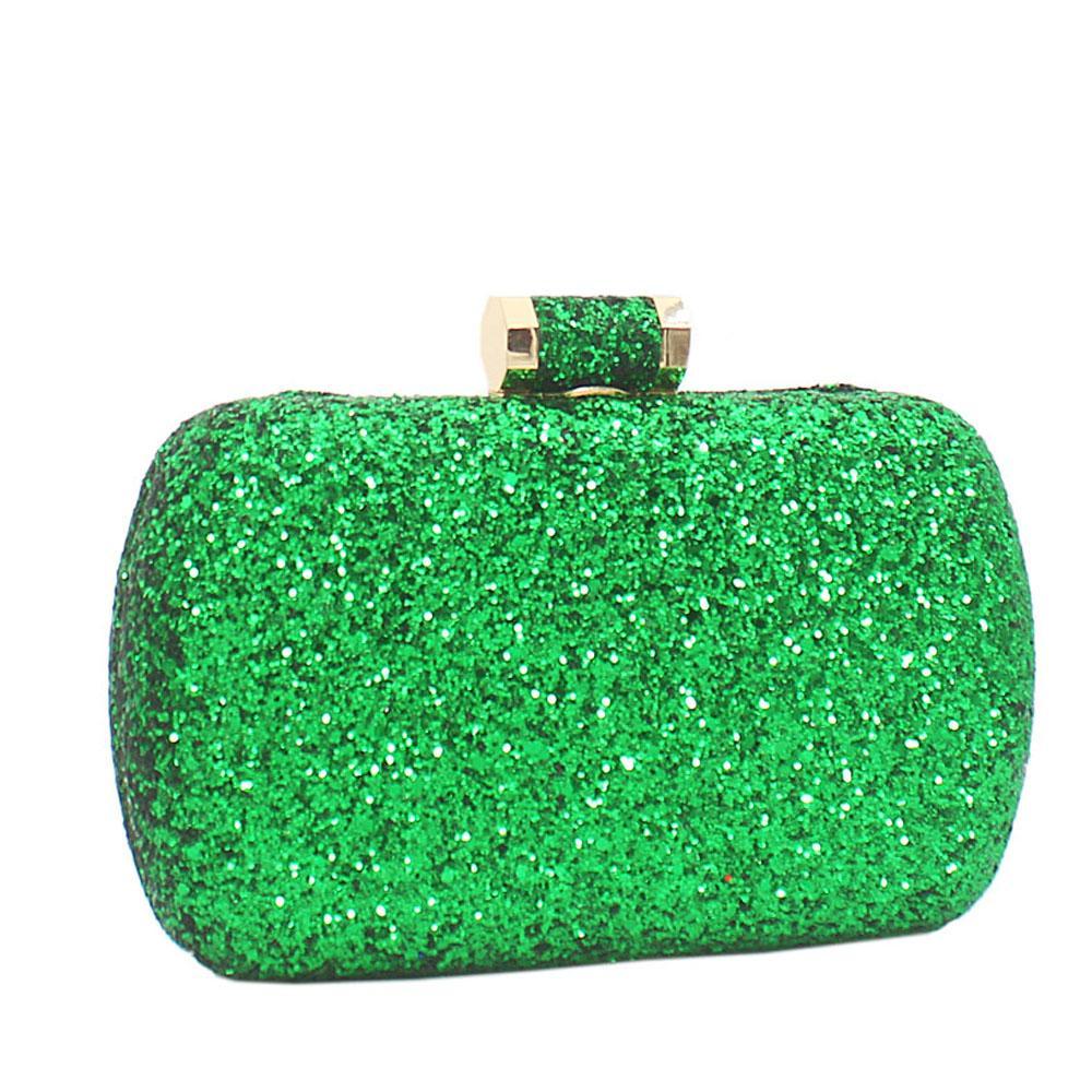 Green Alice Glitz Clutch Purse