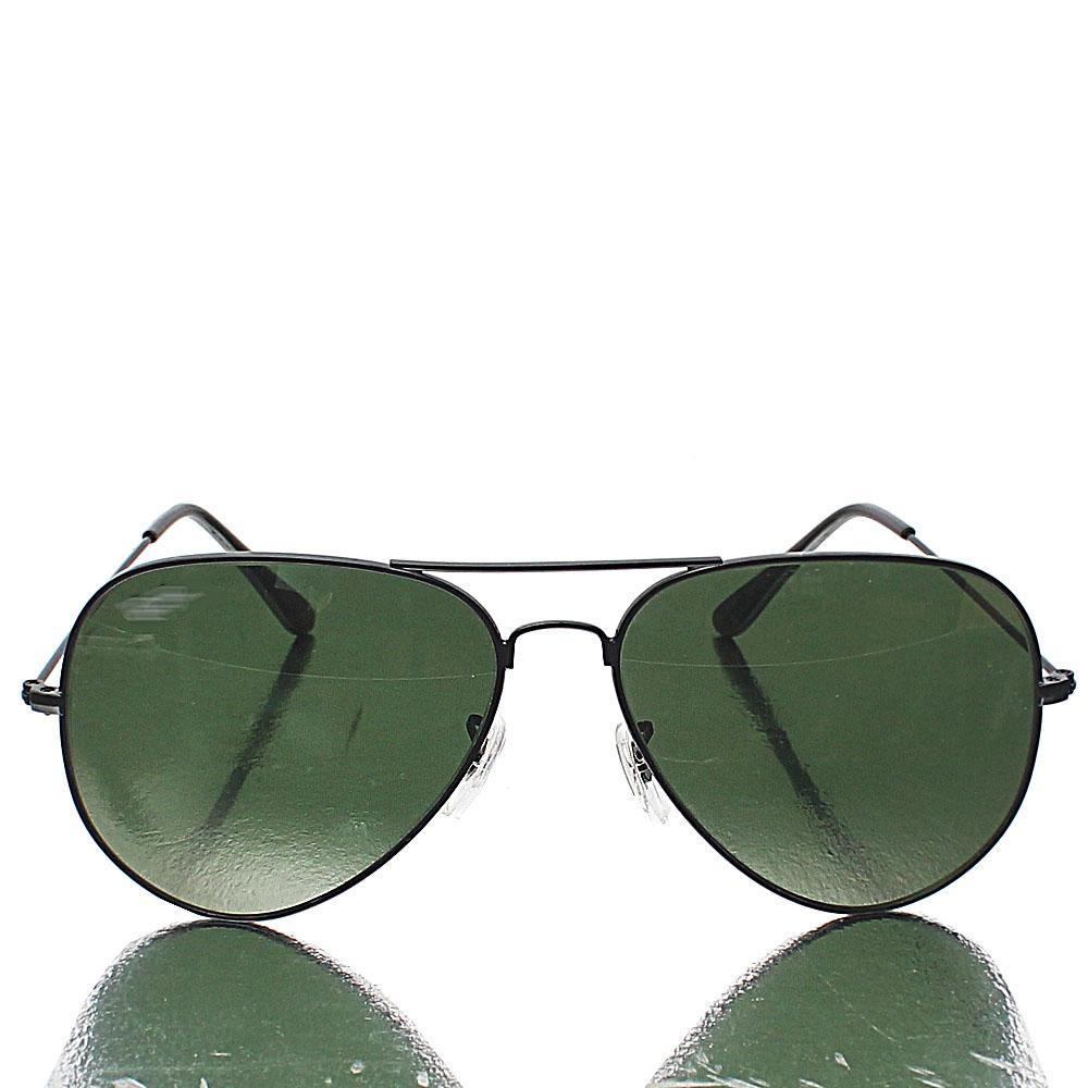 Black Aviator Pro Green Lens Sunglasses