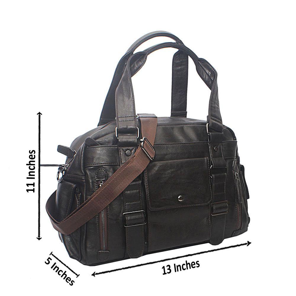 Casania Cofee Central Pocket Overnight Travel Bag