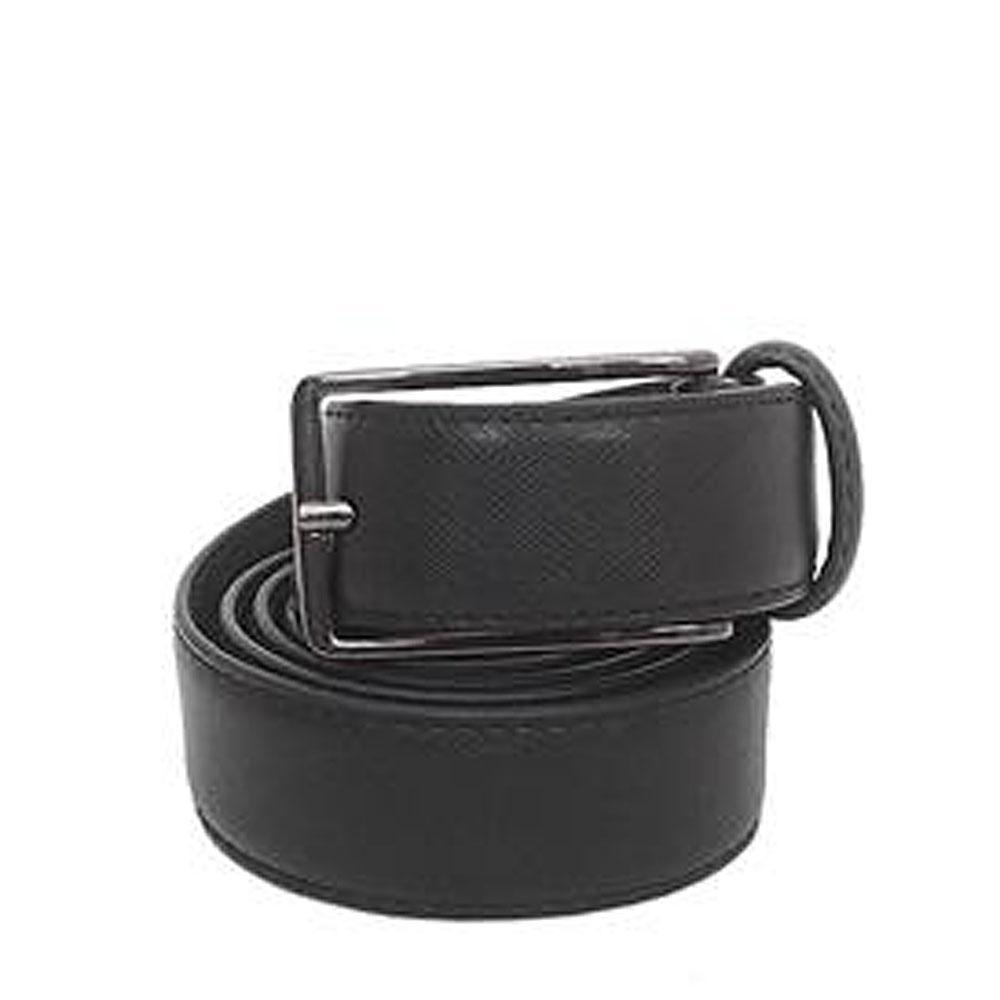 Marks & Spencer Black Leather Mens Belt-L 40 Inches