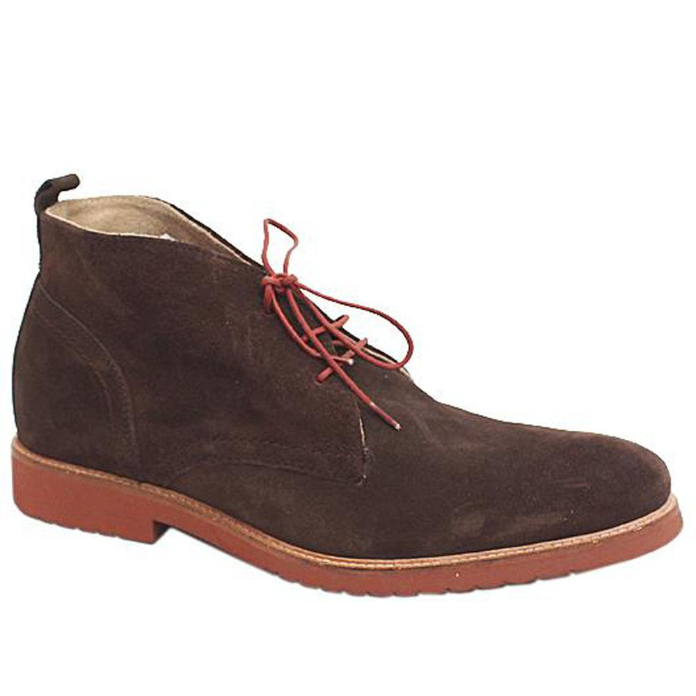 M & S Autograph Coffee Suede Leather Men Ankle Boot-Sz 43