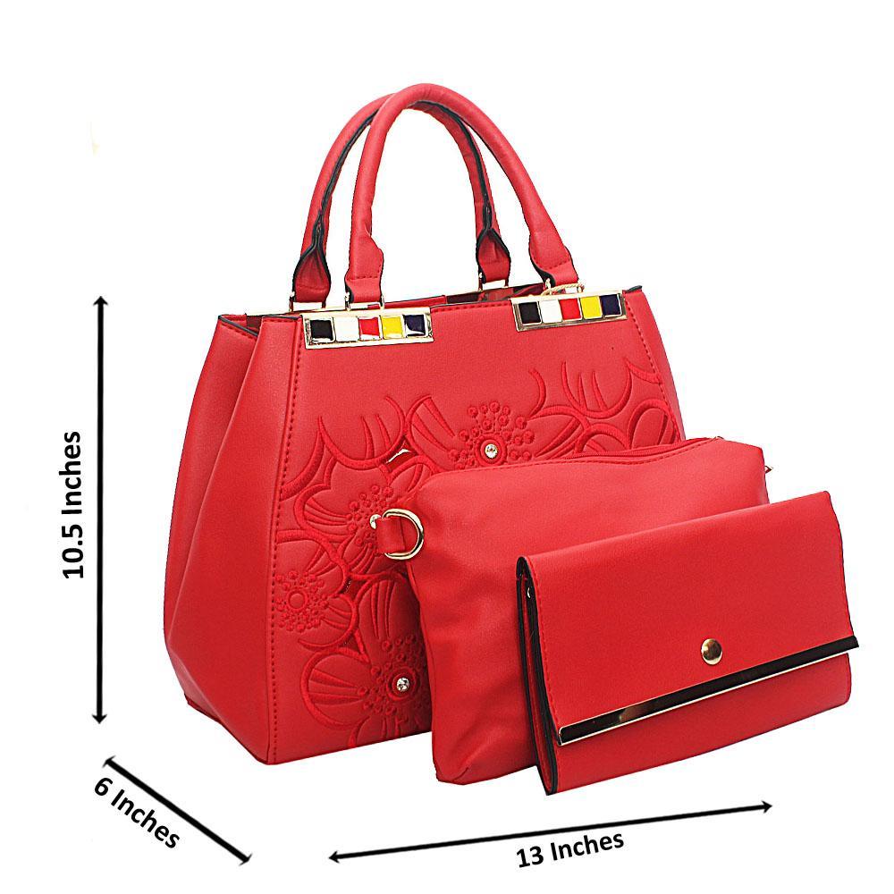 Red Arabella Tuscany Leather Top Handle Handbag