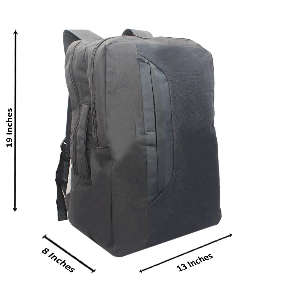 Design Go Grey Fabric Backpack