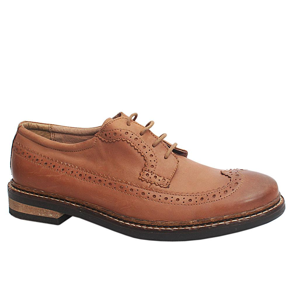 Kurt Geiger Brown Leather Brogues-Eur 43