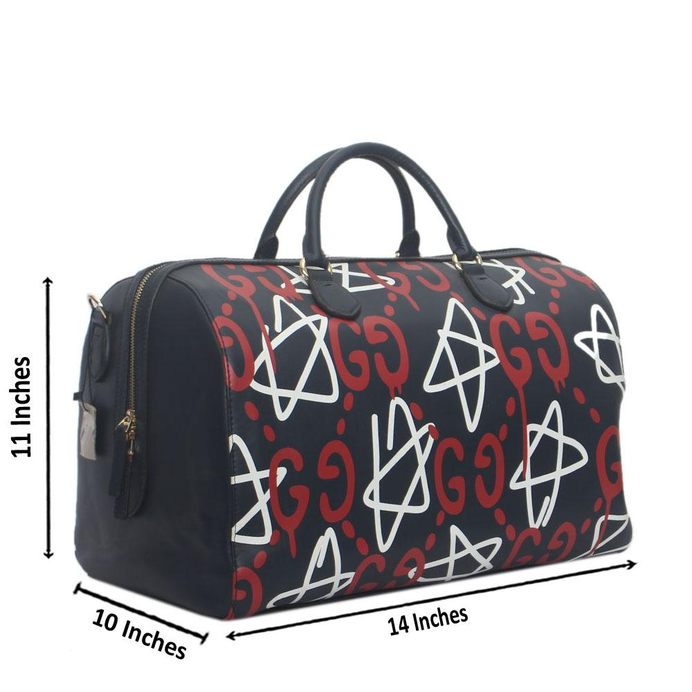 4057eabbbe9b Buy Gucci-Navy-Red-White-Leather-Tian-GG-Supreme-Duffle-Bag - The ...