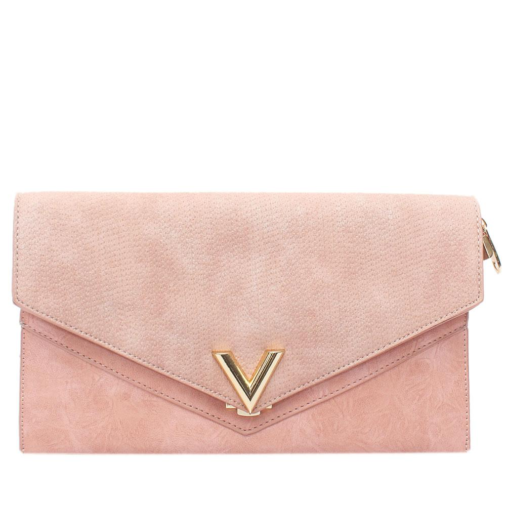 Pink Virtigo Leather Flat Purse