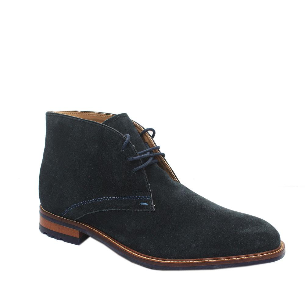 M & S Collection Navy Lace-Up Suede Leather Men Ankle Shoe