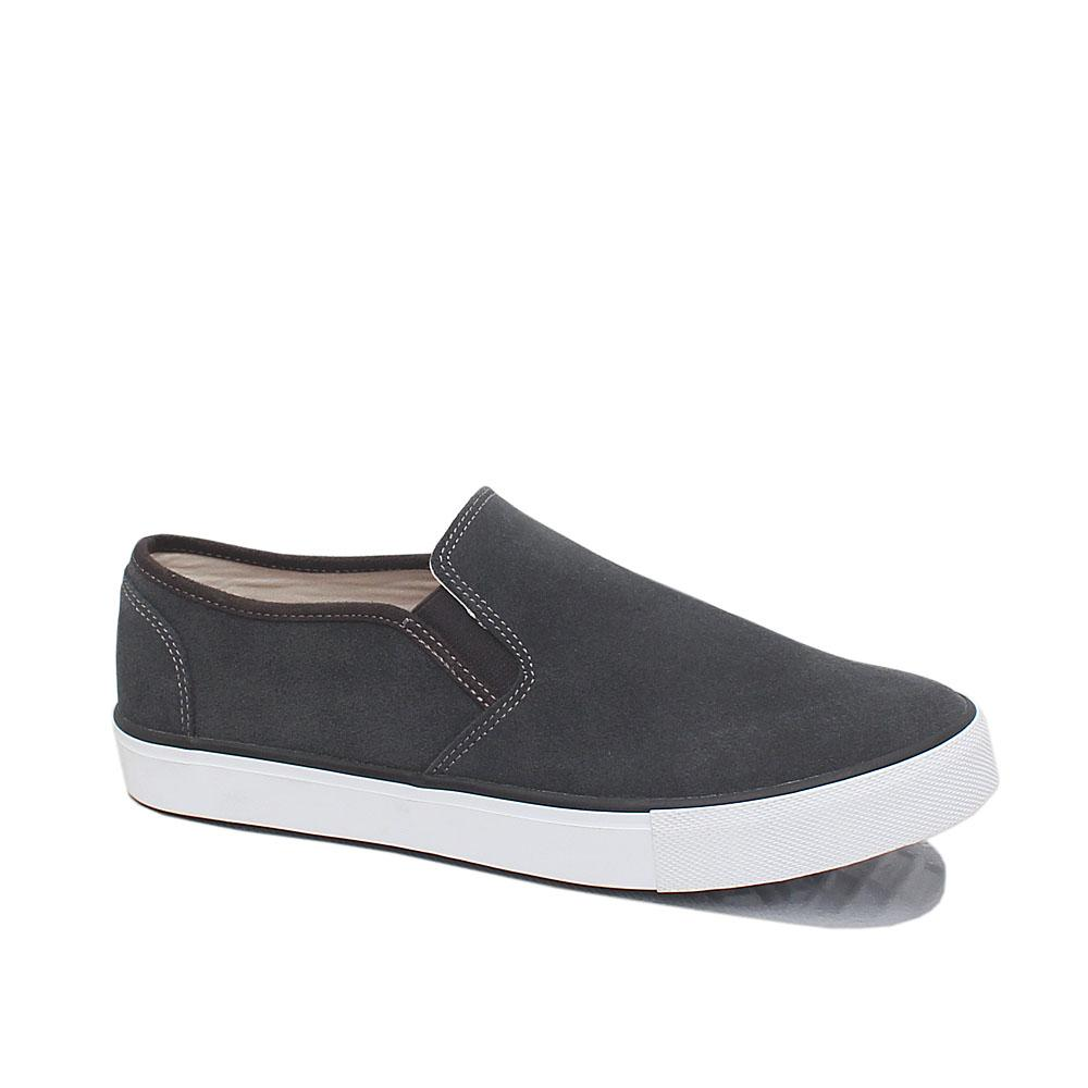 M & S Gray Suede Leather Men Sneakers