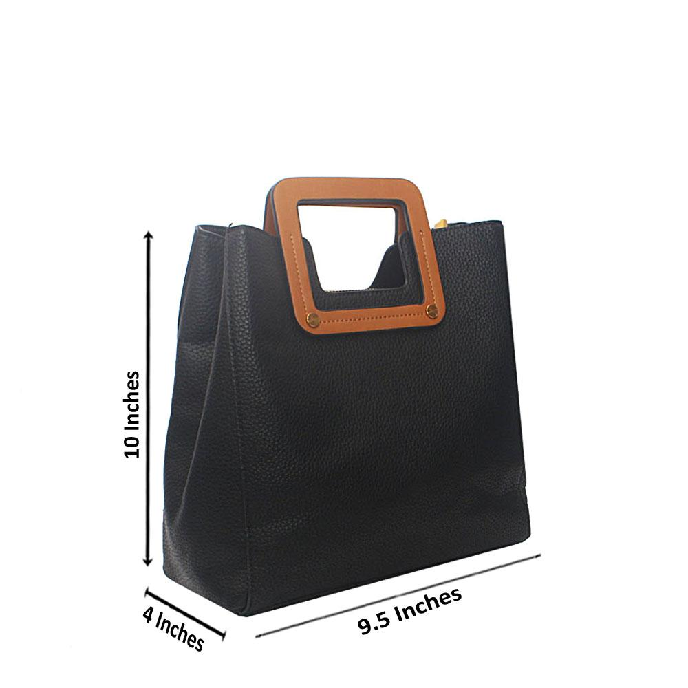 Black Miane Tandy Leather Small  Handbag